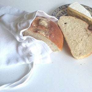 Linen bread storage bag
