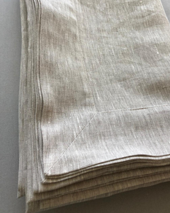 Tablecloth from soft natural linen