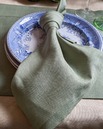 Load image into Gallery viewer, Linen napkins in Olive