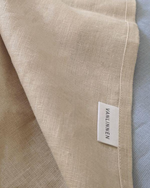 Afbeelding in Gallery-weergave laden, Beige linen bed set from soft linen