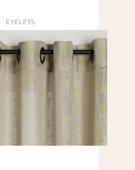 Load image into Gallery viewer, Lilac natural linen curtains, sheer drapes - 1 panel