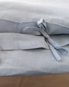 Dusty blue set from soft linen