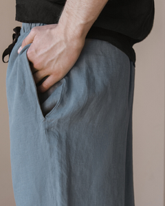 Linen wide oversize trousers for men in 3 colors