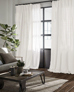 Afbeelding in Gallery-weergave laden, Blackout linen curtains in Off-white - 1 panel