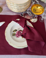 Afbeelding in Gallery-weergave laden, Linen burgundy napkins