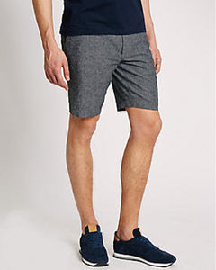 Linen shorts for men in grey
