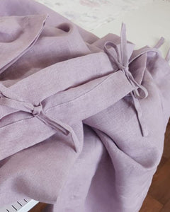 Lilac bedding set from soft linen