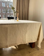 Load image into Gallery viewer, Tablecloth from soft linen in beige