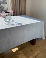 Afbeelding in Gallery-weergave laden, Tablecloth from soft linen in dusty blue