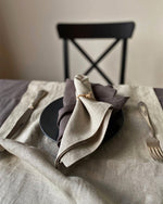 Load image into Gallery viewer, Linen napkins in graphite