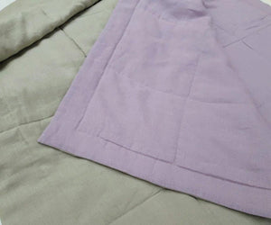 Bedspread with ecological thin linen filler in Dusty Blue