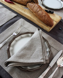 Linen napkin from rough flax
