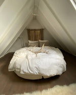 Load image into Gallery viewer, White bedding set from soft linen