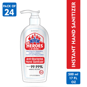 antibacterial hand sanitizer | our heroes at work