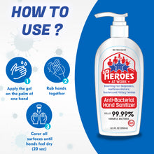 Load image into Gallery viewer, anti bacterial hand sanitizer | ourheroesatwork