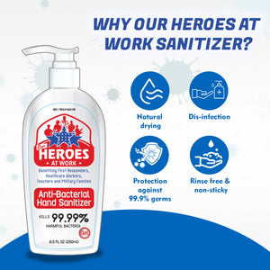 hand sanitizer with 70% alcohol | our heroes at work