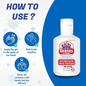 hand sanitizer with alcohol | our heroes at work