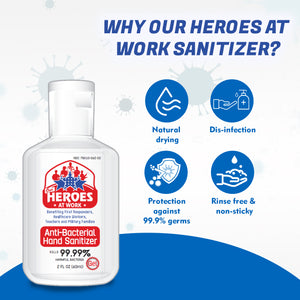 hand sanitizer gel | our heroes at work