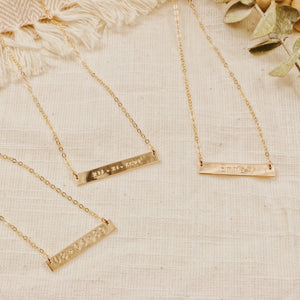 Classic Bar Necklace 1.25""