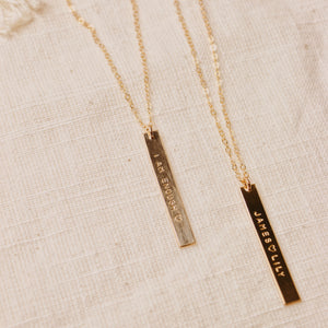 Vertical Bar Necklace 1.5""