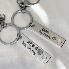 Load image into Gallery viewer, Personalized Keychain (2 line text)