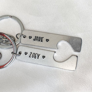 Personalized Couple keychain set (1 line text)