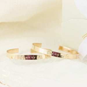 Couple/ Friendship Personalized Cuff Bracelet