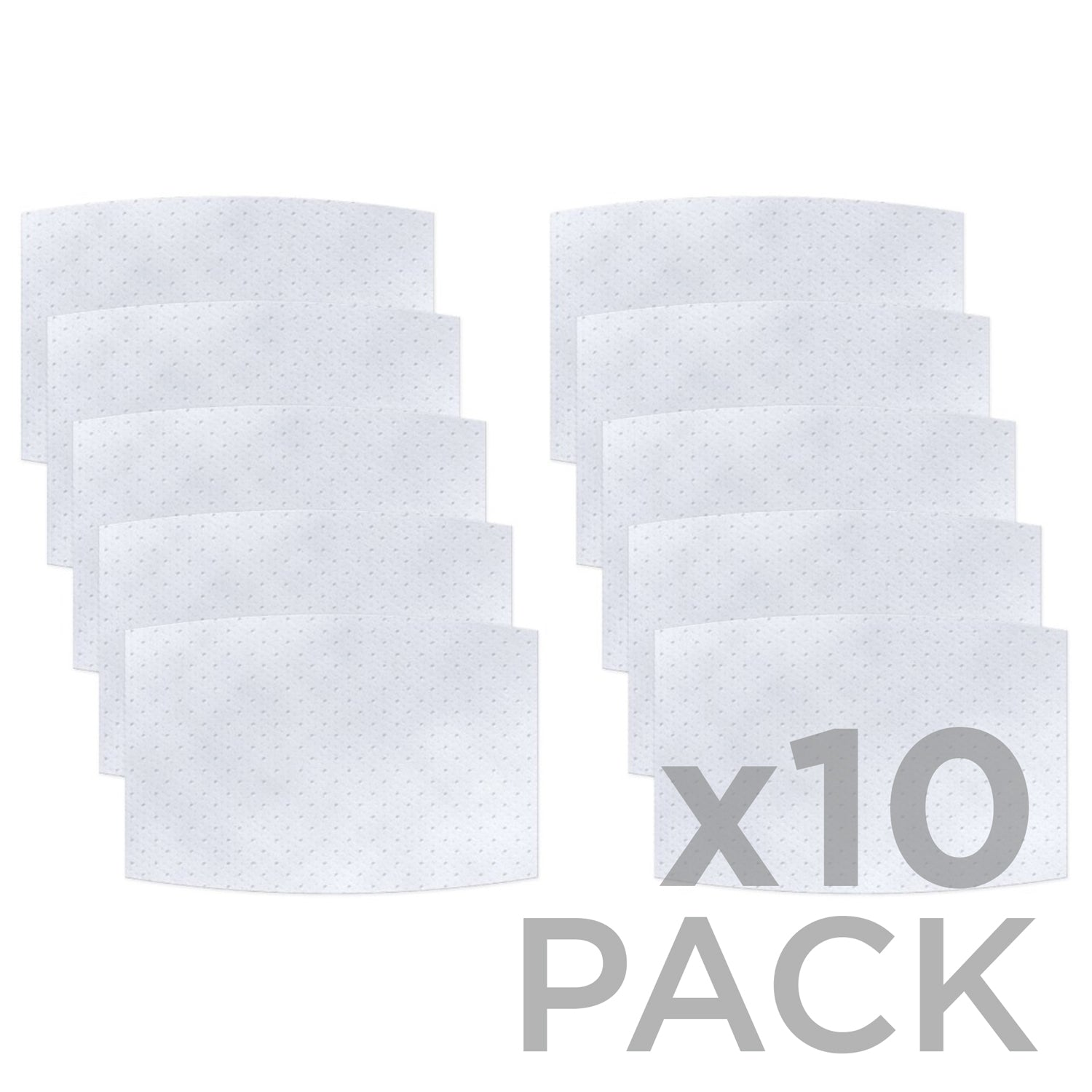 Non-Woven Polypropylene 3-layer Filter 10-Pack ($1.40ea) - Protect Styles