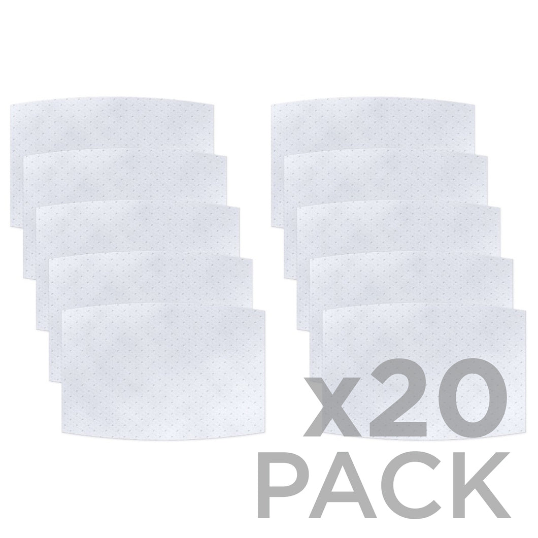 Non-Woven Polypropylene 3-layer Filter 20-Pack ($1.35ea) - Protect Styles