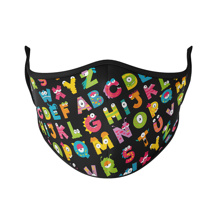Alphabets Reusable Face Masks - Protect Styles