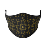 Load image into Gallery viewer, Black Gold Reusable Face Masks - Protect Styles