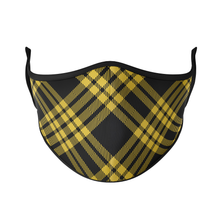 Load image into Gallery viewer, Dark Plaid Reusable Face Masks - Protect Styles