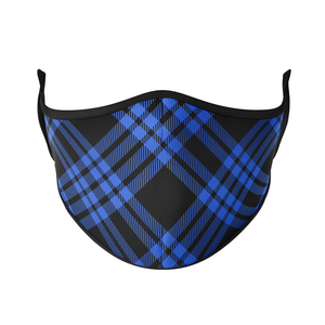 Dark Plaid Reusable Face Masks - Protect Styles