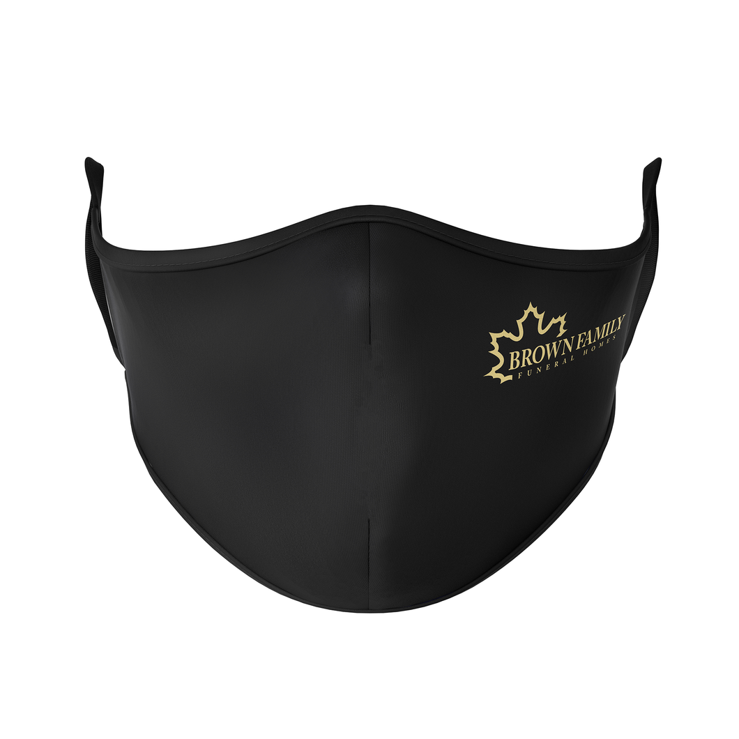 Brown Family Funeral Home New Logo Reusable Face Mask - Protect Styles