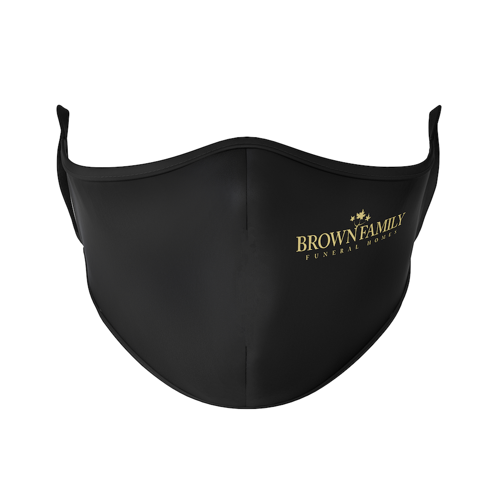 Brown Family Funeral Home Reusable Face Mask - Protect Styles