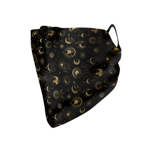 Celestial Gold Hankie Mask - Protect Styles