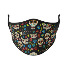 Load image into Gallery viewer, Day of the Dead Reusable Face Mask - Protect Styles