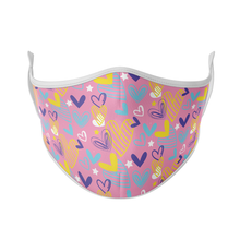 Load image into Gallery viewer, Doodle Hearts Reusable Face Mask - Protect Styles