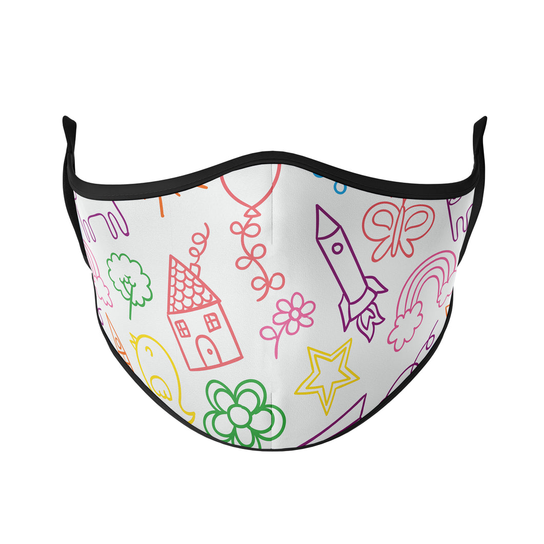 Doodle Reusable Face Masks - Protect Styles
