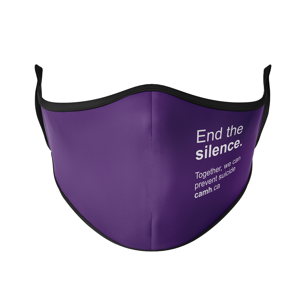 CAMH End the Silence Reusable Face Masks - Protect Styles