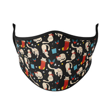 Load image into Gallery viewer, Holiday Cats Reusable Face Masks - Protect Styles