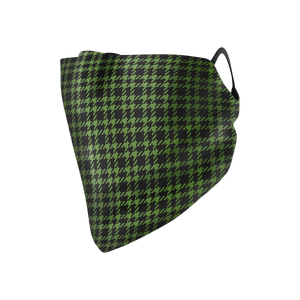 Houndstooth Hankie Mask - Protect Styles