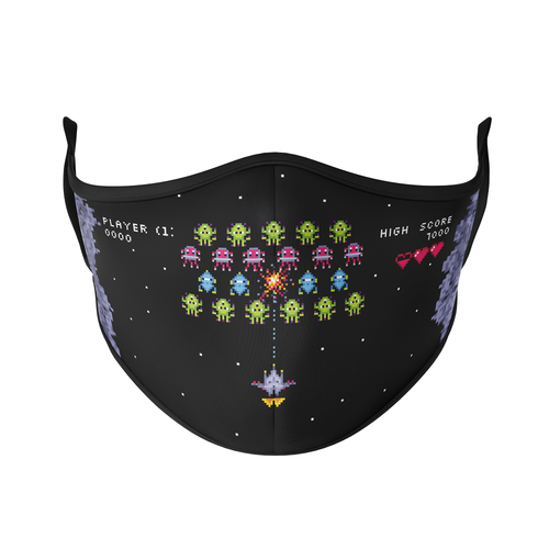 Invaders in Space Reusable Face Mask - Protect Styles