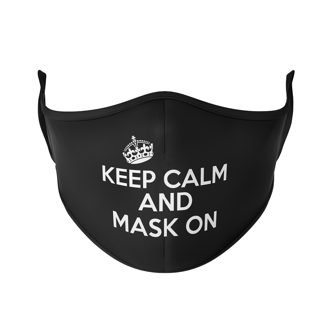 Keep Calm Reusable Face Masks - Protect Styles