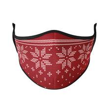 Load image into Gallery viewer, Knitted Snowflake Reusable Face Masks - Protect Styles