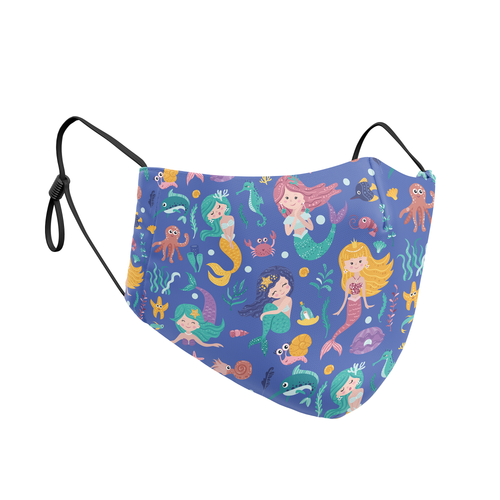 Mermaid Print Reusable Contour Masks - Protect Styles