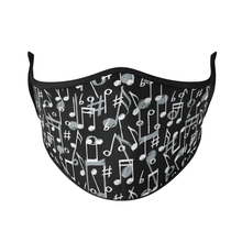 Load image into Gallery viewer, Music Notes Reusable Face Masks - Protect Styles