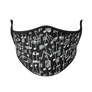 Music Notes Reusable Face Masks - Protect Styles