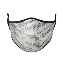 Load image into Gallery viewer, Music Sheet Reusable Face Masks - Protect Styles