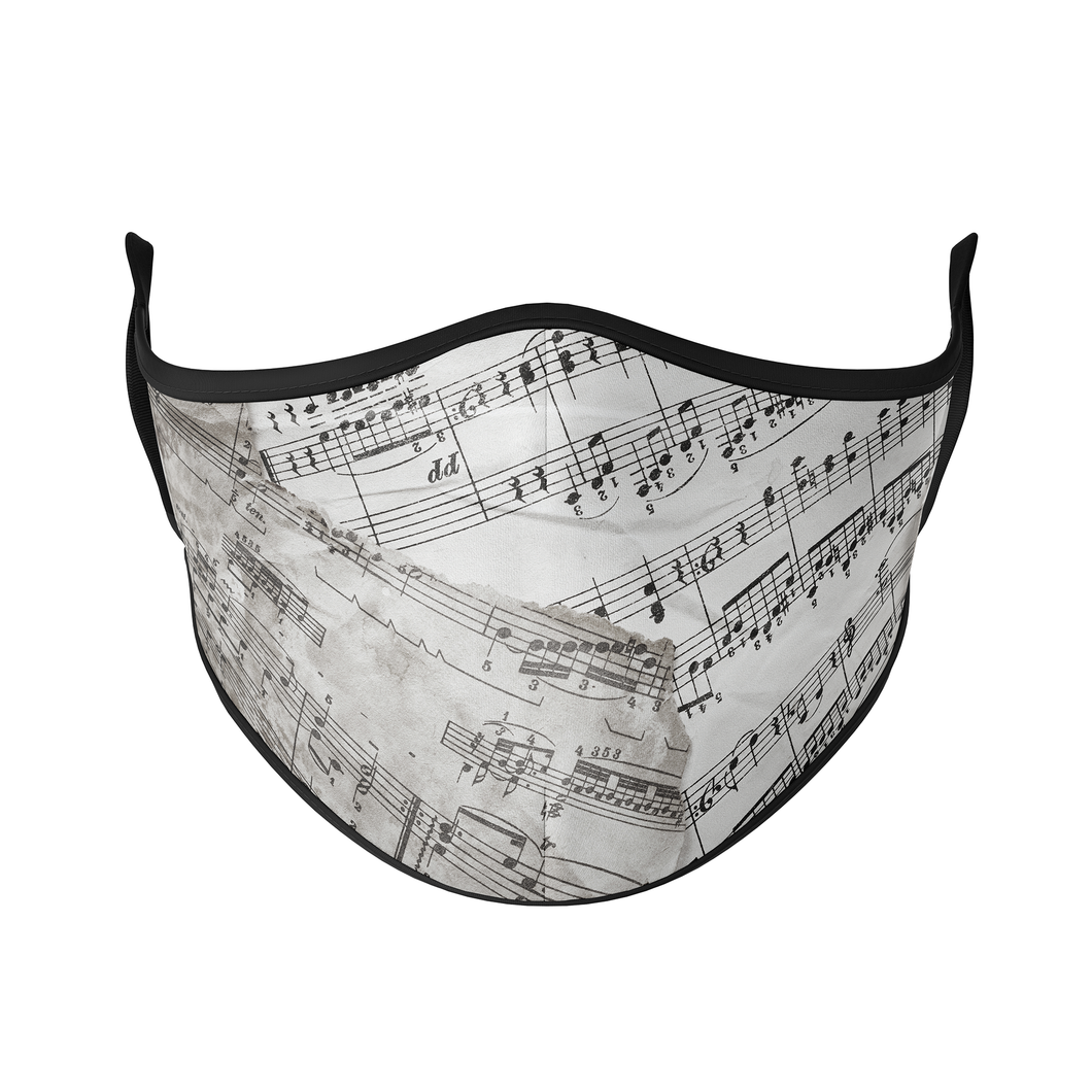 Music Sheet Reusable Face Masks - Protect Styles